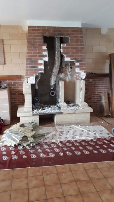 Suppression de la cheminée ancienne